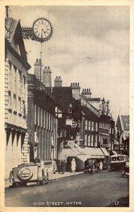 Hythe High Street Vintage Cars Postcard