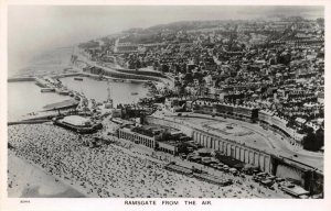 Vintage Kent Real Photo Postcard Ramsgate from the Air Aerial View AD3
