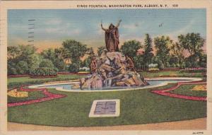Kings Fountain Washington Park Albany New York 1957