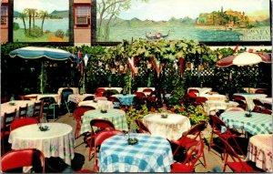 The Roma Italian Restaurant Washington, D.C. outdoor patio checkered cloths