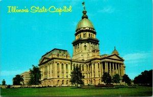 Springfield IL State Capitol Building Postcard unused (21315)