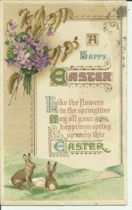 A Happy Easter ---  Embossed