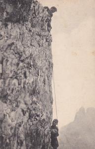 Men Climbing a sheer cliff, 00-10s  #1 ; Kalkkogel , Gipfelwand am Ostturm