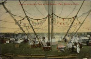 Danbury CT In the Big Tent c1908 Fair Postcard #5