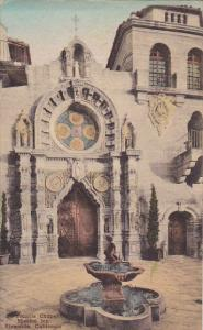 St Francis Chapel Mission Inn Riverside California Handcolored Albertype