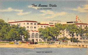 Buena Vista Hotel Biloxi Mississippi linen postcard