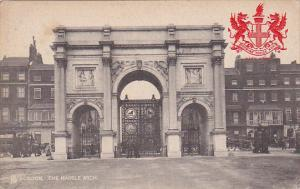 LONDON, England, 1900-1910's; The Marble Arch, Coat Of Arms Of City