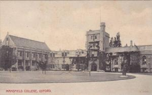 Mansfield College, Oxford (Oxfordshire), England, UK, 1900-1910s