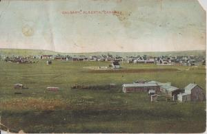 CALGARY Alberta CANADA - EARLY 1900 view of PRIMITIVE TOWN