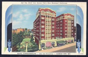 Commonwealth Hotel Kansas City KS unused c1937