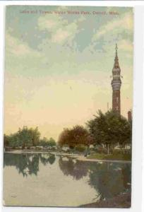 Lake and Tower, Water Works Park, Detroit, Michigan, 00-10s