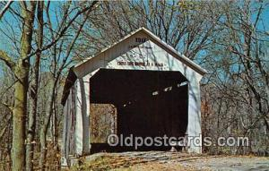 Covered Bridge Vintage Postcard Marshall Bridge Parke County, IN, USA unused