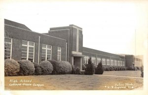 RPPC High School - Cottage Grove, Oregon Dotson Photo ca 1940s Vintage Postcard
