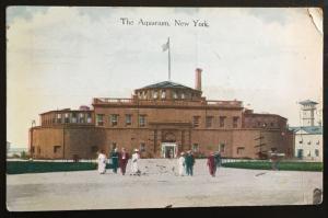 498 on 1920 NYC Aquarium photo, Vic's Stamp Stash/Postcards