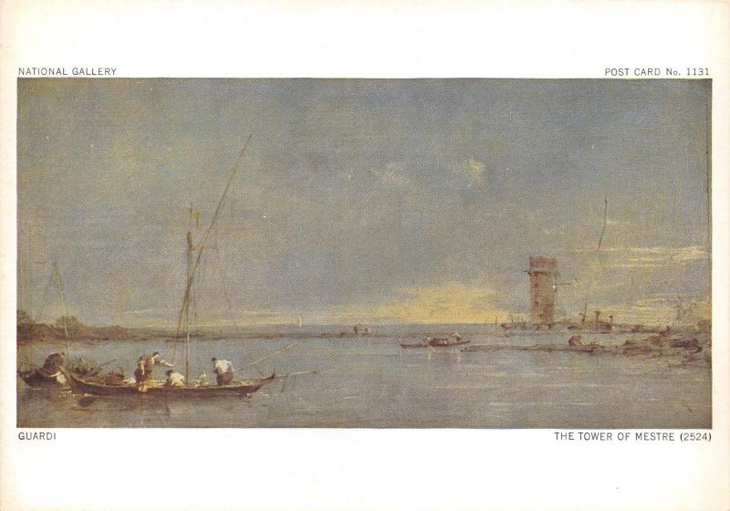 Art Postcard, The Tower of Mestre by Guardi X57
