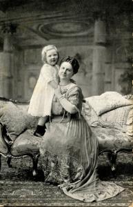 Dutch Royalty -  Queen Wilhelmina and the Present Queen, 1949                ...