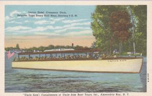 ALEXANDRIA BAY , New York , 30-40s; Uncle Sam Boat Tours