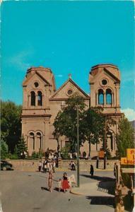 Santa Fe New Mexico~St Francis Cathedral~1950s Postcard