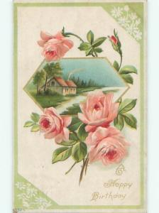 Divided-Back BEAUTIFUL FLOWERS SCENE Great Postcard AA3649