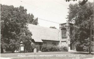 North Shore Methodist Church Glencoe Illinois 1930 - 1950 Real Photograph