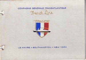 COMPAGNIE GENERALE TRANSATLANTIQUE, French Line, S.S. FRANCE, Postcard Booklet