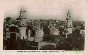 Pakistan Peshawar City Looking from the Fort General view Towers Postcard