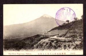 MT FUJI Mountain Nagaotoge Hakone JAPAN Postcard PC