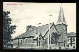 dc498 - PERTH Ontario 1907 Baptist Church. Postcard