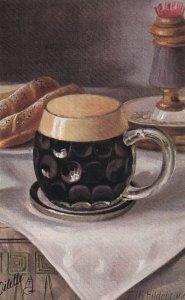 TUCK # 431, 1900-10s; STILL LIFE, Glass mug, Artist Fritz HILDEBRAND