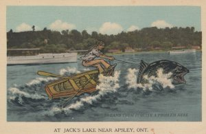 APSLEY , Ontario , Canada , 1930s ; Fishing Exaggeration #4