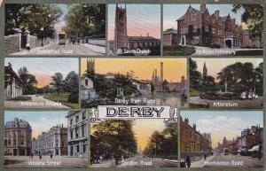 DERBY, Derbyshire, England, United Kingdom; 9-Views, 1900-10s