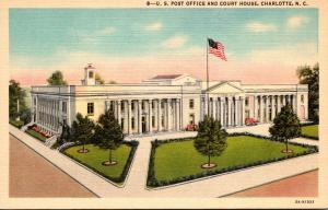 North Carolina Charlotte Post Office and Court House Curteich