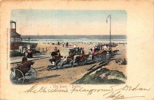 South Africa Durban The Beach Horse Carriage Rides Promenade Postcard