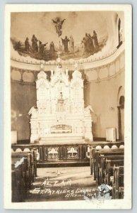 O'Neill Nebraska~St Patrick's Catholic Church Interior~1920s RPPC