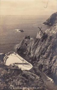 RP; Aerial View of La Quebrada, Acapulco, Guerrero, Mexico, PU-1946