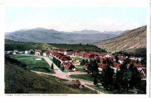 YELLOWSTONE, FORT YELLOWSTONE, DIVIDED BACK