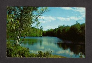 NJ Greetings From West Milford New Jersey Postcard Pond view Nature
