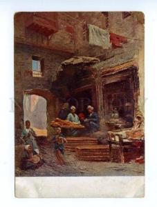 147077 Egypt CAIRO DANCERS MUSICIANS by MAKOVSKY Vintage PC