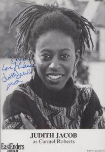 Judith Jacob Carmel Roberts BBC Eastenders Vintage Early Hand Signed Cast Photo