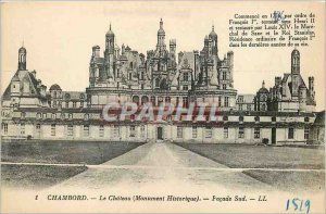 Old Postcard Chambord Castle (Historical Monument) South Facade