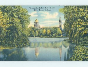 Linen CHURCH SCENE Notre Dame - South Bend Indiana IN AD1033