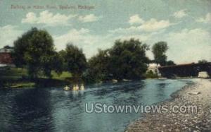 Bathing in Huron River Ypsilanti MI 1910