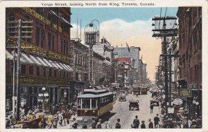 Canada Toronto Trolleys On Yonge Street Looking North From King sk7059