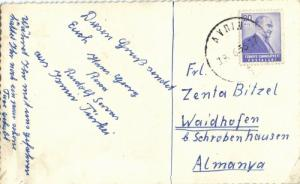syria, AFRIN AVRIN عفرين‎, Partial View with Road (1956) Turkish Stamp RPPC