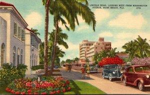 Florida Miami Beach View Along Lincoln Road