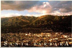 California Santa Barbara Panoramic View With Clearing Storm 1993