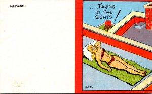 Girl In Bikini Taking In The Sights