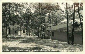 Kentucky Cottages Lake State Park K-88 1940s RPPC Photo Postcard 21-10118