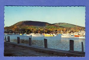 Camden, Maine/ME Postcard, Autumn View Of Harbor & Mountains