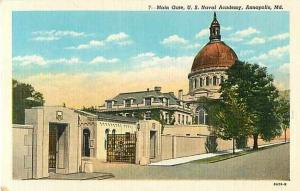 Linen View of Main Gate U.S. Naval Academy Annapolis MD
